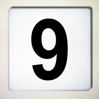 Ziffer 9 schwarz 15cm Aufkleber Tattoo Nummer Zahl Hausnummer Haus Tür Mülltonne