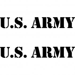 2 Aufkleber 30cm Tattoo schwarz US ARMY Auto Heck Folie Schriftzug Autoaufkleber