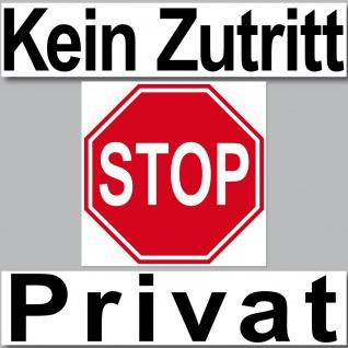 3 Aufkleber Set Sticker Kein Zutritt STOP Privat Schild Arzt Praxis Tür Hinweis