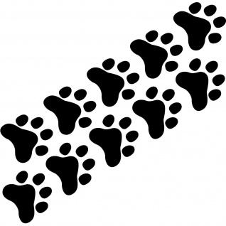 10 Pfötchen schwarz Pfote 4cm Hund Katze Spur Napf Auto Aufkleber Deko Folie