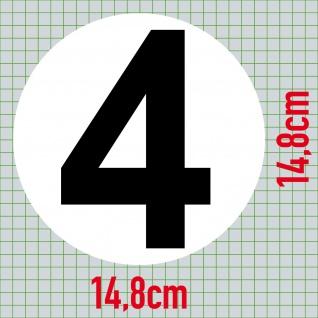 Set 9 Aufkleber 15cm Sticker 1 bis 9 Start Nummer Zahlen Racing Motor Sport Auto - Vorschau 5