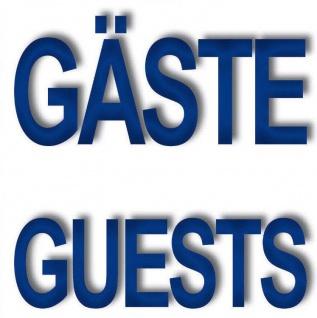 Aufkleber 5cm Sticker Gäste Guests Hinweis Fliesen Spiegel Handtuchhalter Bad WC