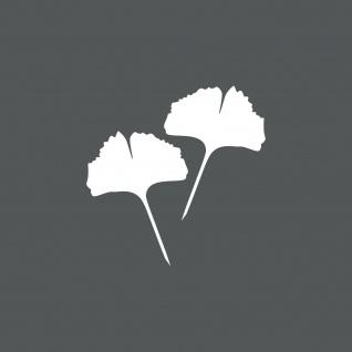 1 Paar 2 Blätter 12cm weiß voll Ginkgo Blatt Aufkleber Tattoo Ginko Gingko Folie - Vorschau 1