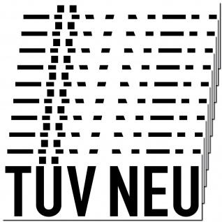 10 Aufkleber TÜV Neu 20cm Sticker Hinweis Auto Pkw Kfz Verkauf Händler Handel