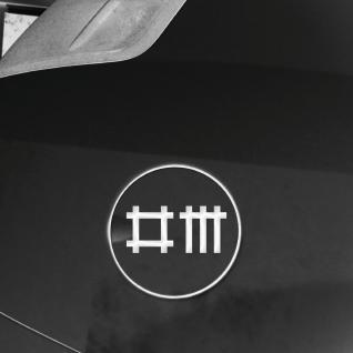 2 Aufkleber Stäbchen Symbol 9cm weiß Tattoo Auto Heck Deko Folie Depeche Mode