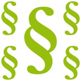 Paragraph SET S grün § Zeichen Symbol Gesetz Anwalt Kanzlei Aufkleber Tattoo