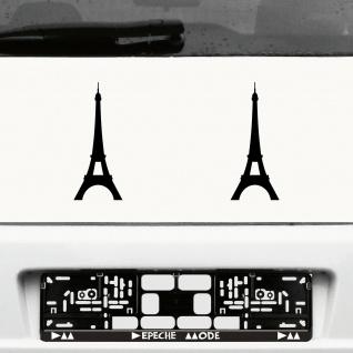 Aufkleber Eiffelturm 20cm schwarz Auto Tür Wand Deko Folie Paris Autoaufkleber