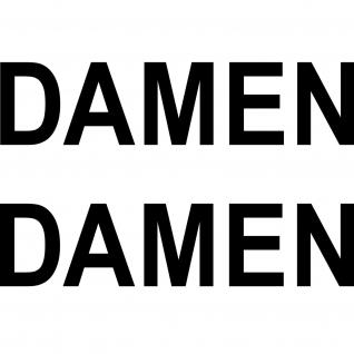 2 Aufkleber 26cm schwarz DAMEN Tür Glastür Hinweis Schriftzug Tattoo Deko Folie