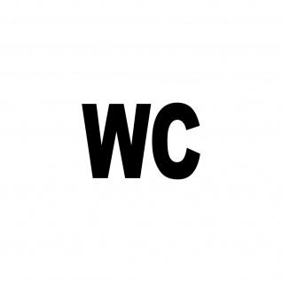 WC 13cm schwarz Bad 00 Toilette Tür Hinweis Aufkleber Tattoo Deko Folie ORACAL - Vorschau
