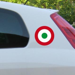 2 Aufkleber Tattoo 11cm Target Mod Symbole R W G Deko Folie Auto Roller Vespa