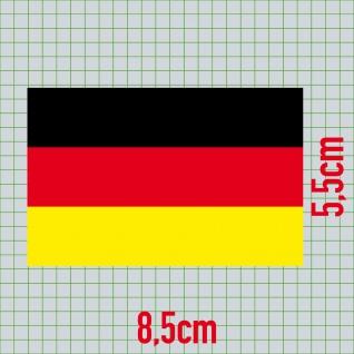 5 Aufkleber 8cm Sticker BRD Deutschland Fußball WM EM National Fahnen Flaggen - Vorschau 2