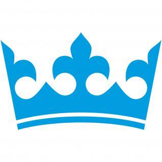 Krone 30cm blau König Aufkleber Tattoo die cut Auto Möbel Kind Tür Deko Folie