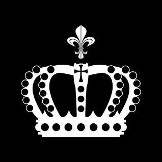 Krone 28cm + Lilie weiß König Aufkleber Tattoo Auto Fenster Tür Deko Folie