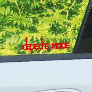 2 Aufkleber Tattoo 10cm rot Exciter Depeche Mode Auto Fahrzeug Heck Deko Folie