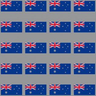 20 Aufkleber 3cm Australien AUS Länder Fahne Flagge RC Modellbau Mini Sticker