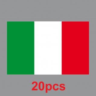 20 Aufkleber 8, 5cm Sticker Italien Italy Fußball EM WM National Flaggen Fahnen - Vorschau 3
