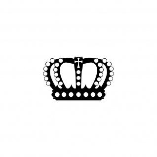 Perlen Krone 12cm schwarz Aufkleber Tattoo Deko Folie Auto Möbel Fenster Tür