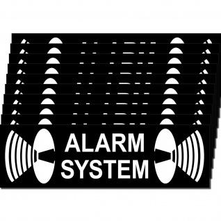 10 Stück Aufkleber Sticker Alarm System Warnung Auto Haus Tür Fenster Rolladen