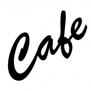 Cafe 15cm schwarz Aufkleber Tattoo Folie Schriftzug Schreibschrift Kühlschrank
