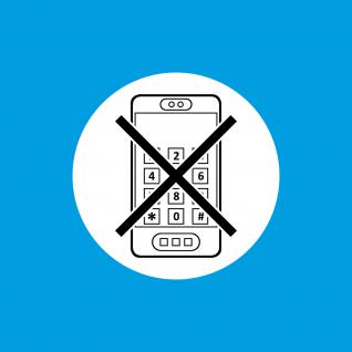 30 Aufkleber 10cm Sticker Handy smartphone benutzen Verbot telefonieren verboten