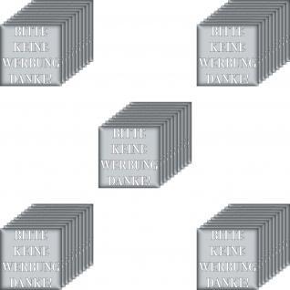 50 Aufkleber 5cm silber Sticker BITTE KEINE WERBUNG DANKE einwerfen Briefkasten