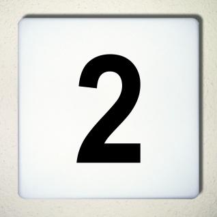 Ziffer Nr 2 schwarz 12cm Zahl Hausnummer Haus Nummer Aufkleber Tattoo Deko Folie