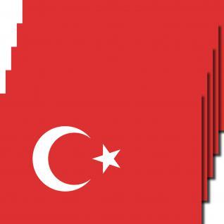 5 Stück 8, 5cm Aufkleber Sticker Türkei Fußball EM WM National Flaggen Fahnen
