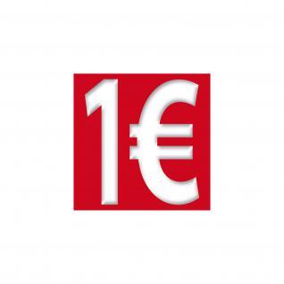 1 € Euro Zeichen Symbol Aufkleber Sticker Rabatt Aktion Sale Angebot Ausverkauf - Vorschau 1
