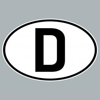 D Aufkleber Sticker BRD GER Deutschland Länderkennzeichen Auto Schild Zeichen - Vorschau 5