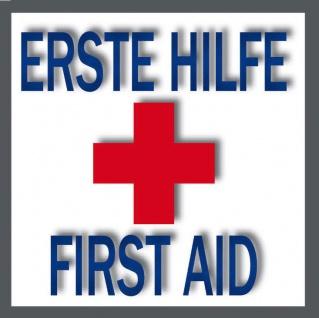Aufkleber Sticker 5cm Erste Hilfe First Aid rotes Kreuz Hinweis Symbol Zeichen