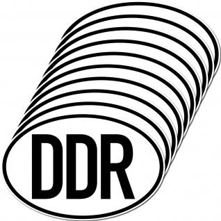 10 Aufkleber DDR Sticker Länderkennung Länderkennzeichen 4061963019689