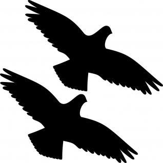 2 Aufkleber 30cm schwarz Vogel Tattoo Warnvogel Fenster Scheibe Schutz Folie
