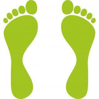 2 Paar Fuß 25cm 4 Füße Kinderfüße Fußabdruck Fußspur Aufkleber Tattoo Deko Folie