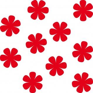 10 Aufkleber 4cm rot Tattoo Blumen Blümchen Blüten Deko Folie Auto Fenster Tür