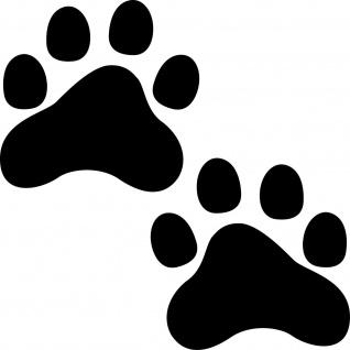 Paar Pfoten 10cm schwarz 2 Pfötchen Fuß Aufkleber Katze Hund Tattoo Auto Folie