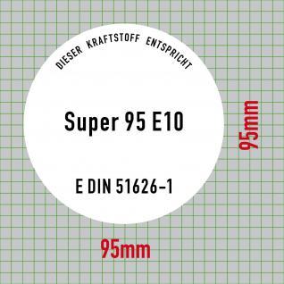 Aufkleber Sticker Super Benzin 95 E10 Kraftstoff Tankstelle Zapfsäule 51626-1 - Vorschau 2