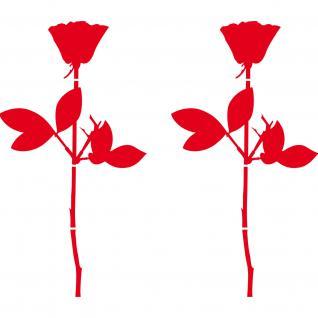 Rose 20cm Aufkleber Tattoo für Auto Fenster Tür Spiegel Deko Folie Depeche Mode