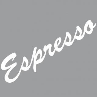 Espresso 30cm weiß Schriftzug Wandtattoo Aufkleber Tattoo Deko Folie Bar Küche