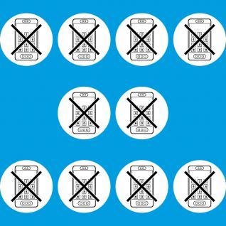 10 Aufkleber 10cm Sticker Handy smartphone benutzen Verbot telefonieren verboten
