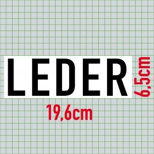 Aufkleber Leder 20cm Sticker Hinweis Sitze Auto Pkw Kfz Verkauf Händler Handel - Vorschau 2