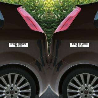 Aufkleber 20cm BENZIN T2 Gemisch 1:50 DIN1451 Verkehrsschrift Sticker Kanister - Vorschau 3