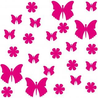 25 Aufkleber Tattoo Schmetterling Blume Kinder Zimmer Möbel Fenster Deko Folie