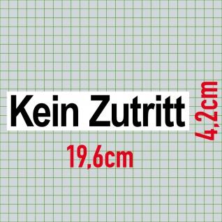 Set Aufkleber Archiv + Kein Zutritt 20cm Sticker Hinweis Tür Schild Praxis Firma - Vorschau 3