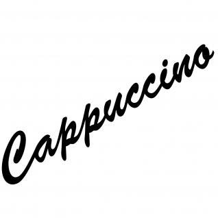 Cappuccino 37cm schwarz Schriftzug Wandtattoo Aufkleber Tattoo Deko Folie Küche