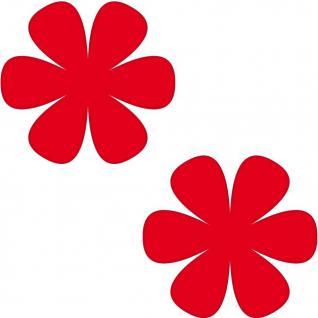 2 Aufkleber 8cm rot Blume Blümchen Wand Tür Kinder Möbel Auto Tattoo Deko Folie