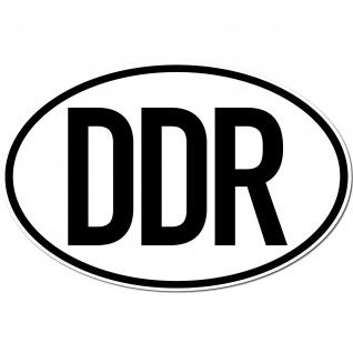 Aufkleber Sticker DDR Deutschland Auto Länderkennzeichen Symbol Schild Zeichen