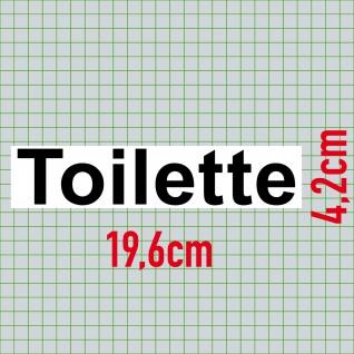 Aufkleber 20cm Toilette Sticker Hinweis Wegweiser WC BAD 00 Klo Tür Schild - Vorschau 2