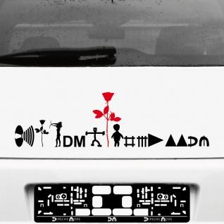Depeche Mode Tour Motive Set schwarz / rot Aufkleber Tattoo Auto Heck Deko Folie