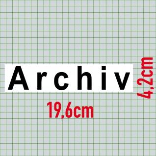 Set Aufkleber Archiv + Kein Zutritt 20cm Sticker Hinweis Tür Schild Praxis Firma - Vorschau 2