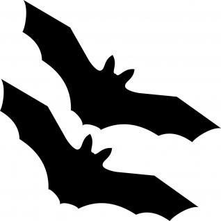 2 Fledermaus Vampir 20cm schwarz Aufkleber Tattoo Fenster Tür Schutz Deko Folie